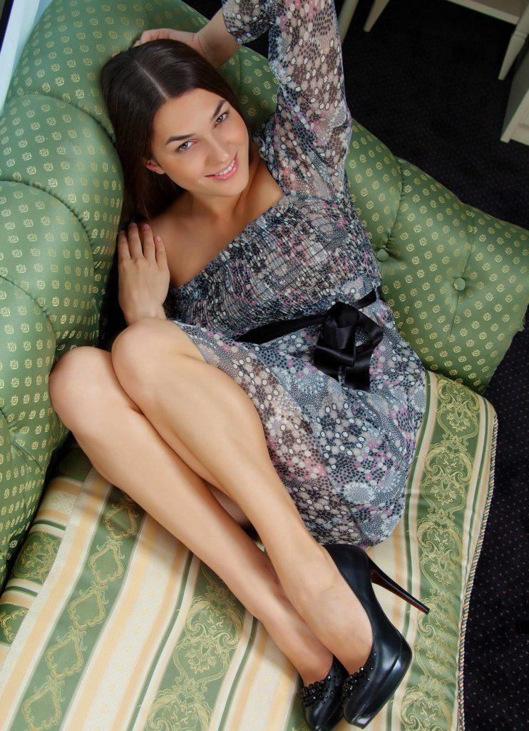 Cute Brunette With Nice Legs